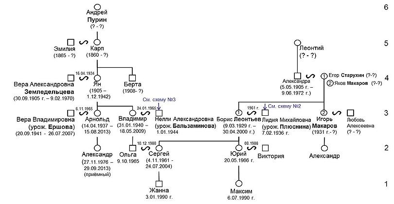 Генеалогическая схема Жанны